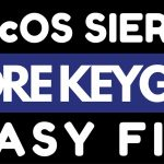 CORE KEYGEN MacOS Sierra EASY FIX