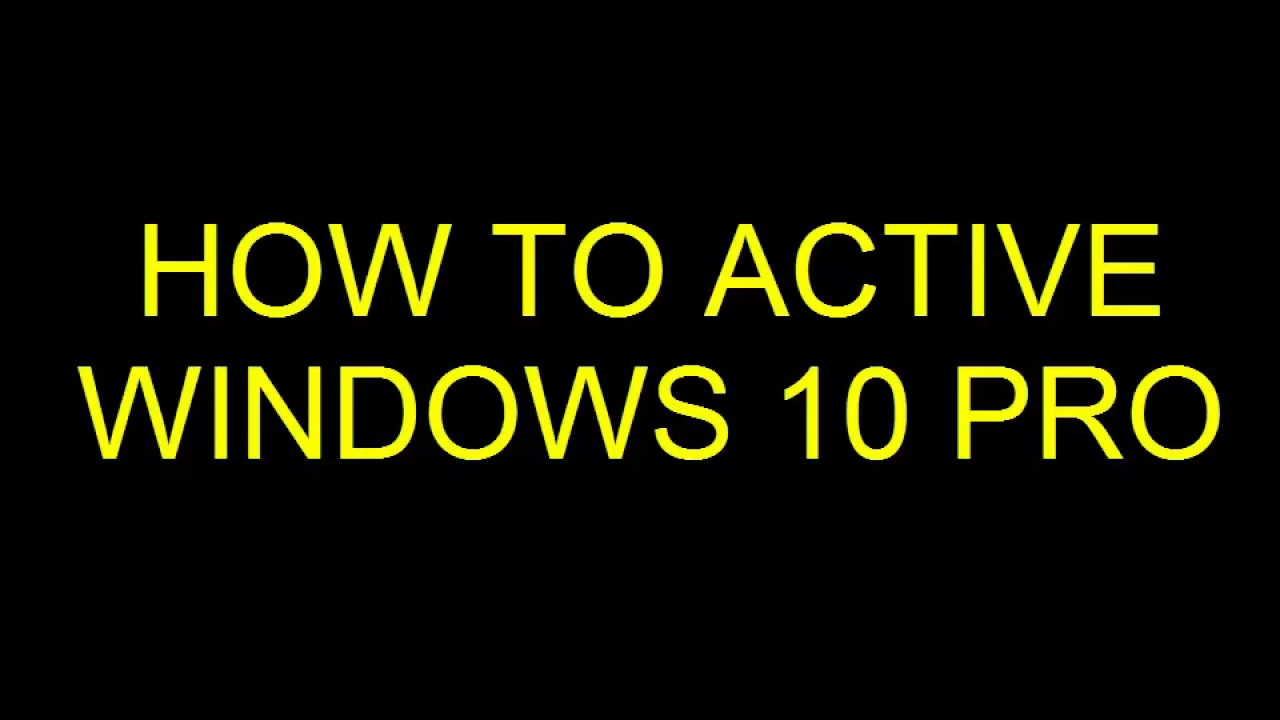 how to activate windows 10 pro for free