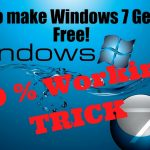 Make your windows 7 genuine free without windows 7 loader or
