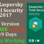 Kaspersky Total Security 2017 Full Version for Free 739 Days