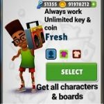 Link Download Subway Surfers Cheats Always Work ( Unlimited Keys
