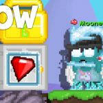 How to Drop on WHITE DOOR Growtopia