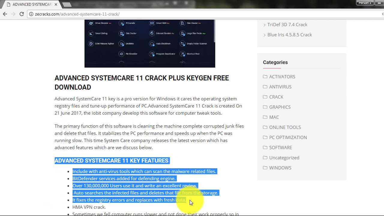 serial key advanced systemcare 11.3 pro