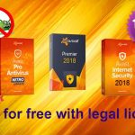 Avast internet security 2018 and avast premier 2018 license key