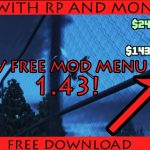GTA V PC Online 1.43 Mod Menu 2018 wRPMONEY hack (FREE