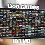 1MB Download 1200 games for Android