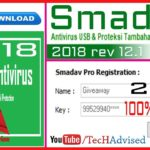 SmadAV Antivirus 2018 rev 12.1 Serial key crack full version
