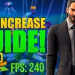 How To INCREASE Your FPS In Fortnite Season 9 INCREASE FPS WITH