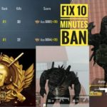 HOW TO FIX 10 minutes ban 10 years ban PUBG MOBILE global
