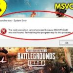 MSVCP140.dll error PUBG problem solved Problem while