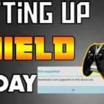 🔴MY FIRST DAY WITH NVIDIA SHIELD (DOWNLOADING FAILED)