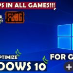 How To Optimize Windows 10 For Gaming (GET 60FPS IN EVERY GAME)