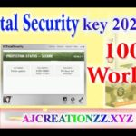 k7 total security key 2020 to 2021 100 working live proof added