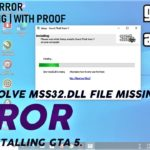 MSS32.DLL Error Solved How To Fix MSS32.DLL Error 100