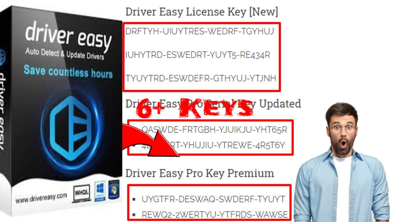 Driver Easy Pro License Key FREE 100 WORKING PRO SERIAL KEYS