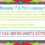 Driver Booster 7 6 Pro Licence Key
