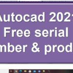 Free serial number product key for autodesk autocad 2021